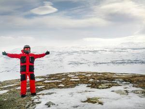 Skotersäsongen avrundades med en tur upp på Skenörsfjället i Härjedalen, 1 174 meter över havet.