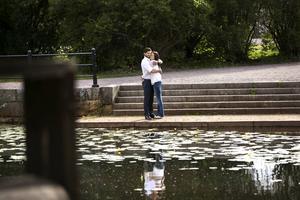 7 juli 2014: Carl Philip och Sofia Hellqvist besöker Falun i samband med Peace & Love-festivalen i Borlänge.