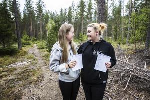 Klasskompisen Wilma Seláhn Forsström klarade också lerduveskyttet.