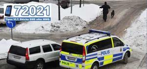 Polisen jagade biltjuvar i Valby centrum på måndagseftermiddagen. FOTO: LÄSARBILD/DAVID SJÖSTRAND