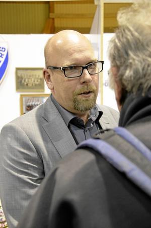 Projektledaren för Hallsbergsterminalen, Magnus Larsson, fanns på plats på Hallsbergsmässan och berättade om Postens nya etablering i Hallsberg.