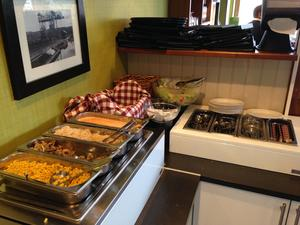 Miljöinspektören fann flera fel i restaurangen som hon under den kommande veckan ska kontrollera. Bildf: Lunchkollen.
