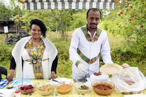 I det etiopiska matståndet stod Liya Beyene och Fanta Eshetu.