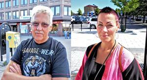 Kurt Welander och Eva-Lotta Kempas har olika inställningar till att åka kollektivt.