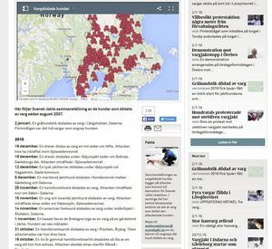 Från Jägareförbundets tidning Svensk Jakts hemsida. Listan på vargdödade hundar har en egen flik.
