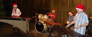 Slagverksensemblen Melody Groove gav prov på takt och ton under julkonserten.