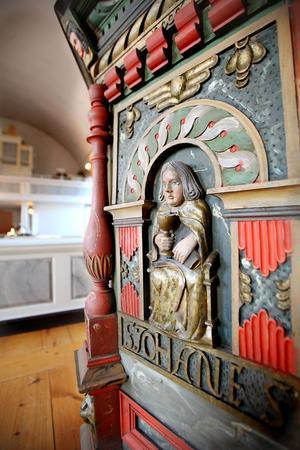 Predikstolen kommer från den gamla kyrkan i Ilsbo och kommer att restaureras under våren.