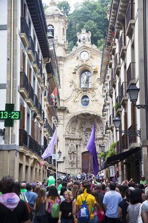 Var och varannan dag pågår festivaler, upptåg och olika kulturevenemang i San Sebastians centrala delar.