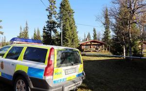 I den här stugan ägde mordförsöket rum.   Foto: Håkan Persson, Tidningen Härjedalen