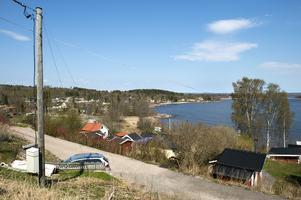 Utsikt över Slädaviken norrut mot Stornäsets naturvårdsområde.