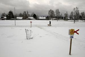 En skoterled och spår för hundpromenader går i dag genom området i västra delen av centrala Arbrå. Ska det byggas på här krävs en ny kommunal detaljplan.