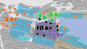 Nya parkeringsavgifter håller på att införas i centrala Sundsvall.