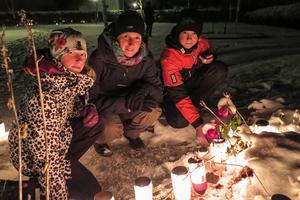 Elsa Arnesson, Britta Brännström och Axel Arnesson minns med värme Göran Brännström, barnens morfar och Brittas pappa.