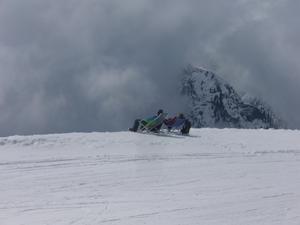 Bilden tagen i Italienska Alperna i vårsol! Men vädret håller visst på att ändras dramatiskt..