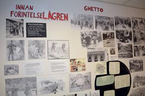 En skärmutställning om Förintelsen visades bland mycket annat.
