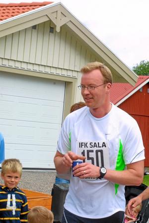 Håkan Svärd, Sala, deltog i milloppet.