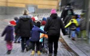 Förskolebarn på utflykt. Foto: Hasse Holmberg / TT