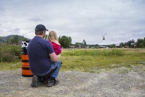 Pappa David med dottern Stina Kråik. Den som väntar på något gott..