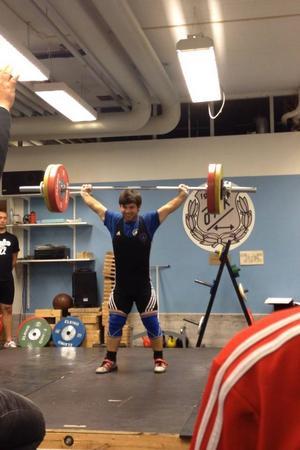 Daniel Skoglund, Sundsvall var kanske tävlingens stora stjärna med bland annat ett ryck på 111 kg.
