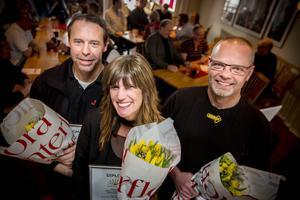 De nominerade är (från vänster) Tomas Lindström – Edsbyhallen ICA Supermarket, Anneli Olsson – Skoaffär´n,Tomas Gunnarsson – Drivex AB.