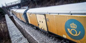 Det sista posttåget från Stockholm går den sista december i år. Bild: Magnus Hjalmarson Neideman/TT