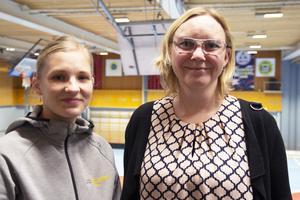 Elin Lund Jonsson, idrottskonsulent på Gävleborgs parasportförbund och Anna Håkansson, Söderhamns IBF.