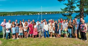 36 personer deltog i släktträffen på Främby udde. Foto: Privat.