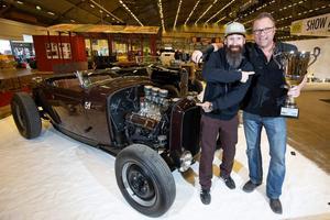 Den amerikanske gästen Aaron Kaufmann utsåg Jimmy Engstedts Ford -32 roadster till sitt favoritbygge.