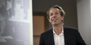 Anders Eriksson, vd Bonnier News, besökte Östersund på torsdagen.