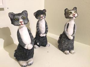 Stilarna var många. Här är verket Mjölnarens katter av Lena Sääskilahti.