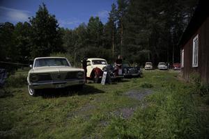 Många klassiska bilar fanns på plats.