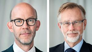 Hans Ellegren (till vänster) och Göran K. Hansson från Kungliga Vetenskapsakademien skriver om vikten av att  ta upp kampen mot falska nyheter. Foto: Markus Marcetic
