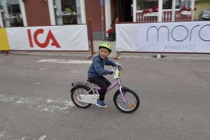 Simon Olander, Siljansnäs, 7 år i Barnens Cykelvasa.