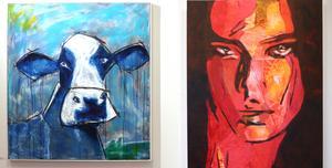 Två av Manfred Peppers målningar: