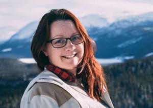 Jessica Öberg har många strängar på sin lyra, bland annat är hon involverad i den stora fisketävlingen Lapland Pike som projektledare. Foto: Roine Öberg/VK