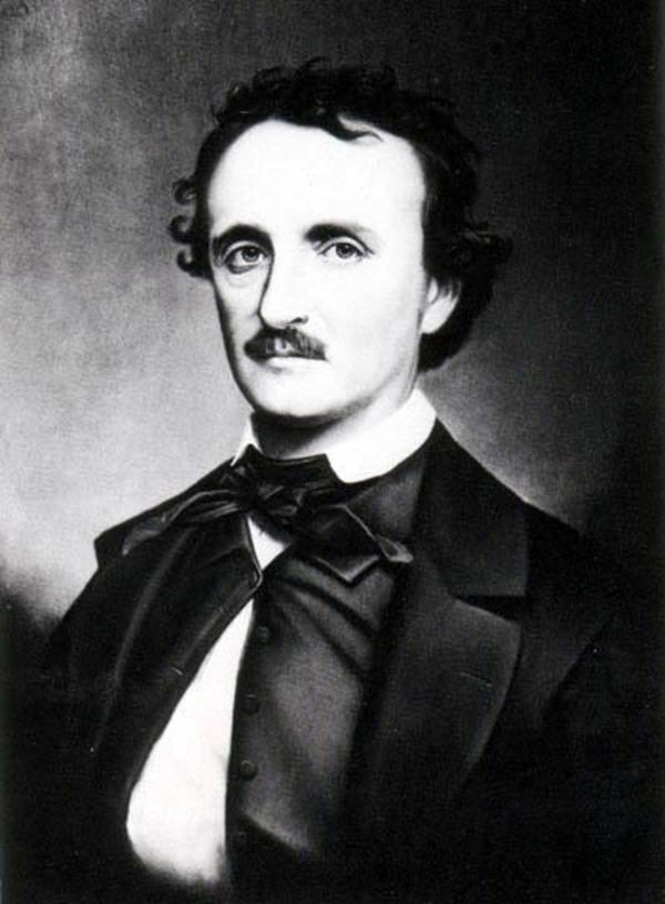 Edgar Allan Poe. Ett foto av Oscar Hallings målning från slutet av 1860-talet.