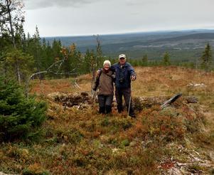 Himmeråsen med Christina Ejdervik och Alf Nordin. Foto Anders Ejdervik