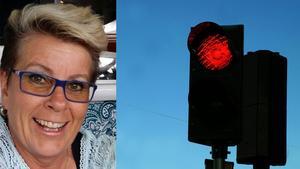 Anne-Maj Tallberg tycker att de osopade trafikljusen mellan Sundsvall centrum och Nacksta är en livsfarlig trafikplats.
