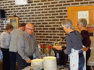 Lara Persson en trogen gäst på Örnsköldviks kyrkas torsdagssoppa. Foto: Kjell Larsson