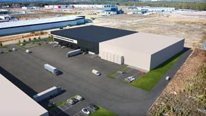 Det nya tredjepartslagret på Torsvik som öppnas i april i år.