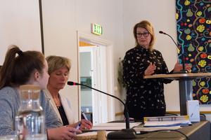Signhild Edström, biträdande kost- och städchef, var på plats för att besvara frågor rörande skolmaten i kommunen.