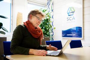 Katarina Levin, sågverkschef på Tunadals sågverk.
