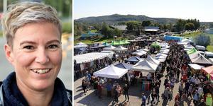 Marknadsgeneral Therese Sjökvist hoppas och tror på en ny folkfest i Munkbysjön på lördag då  det är dags för den trettiotredje upplagan av Mittmarken.