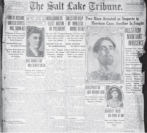 Förstasidan på The Salt Lake Tribune.