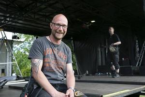Jonas Carpenhammar, områdesansvarig för festivalen, är än så länge nöjd med arbetet.