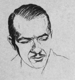 Robert A. Heinlein porträtt i tidningen Amazing Stories 1953. Foto: Ziff-Davis Publishing
