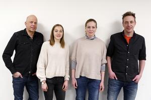 Lars Jonsson, Sofie Hjortsberg, Kim Strömmer och Jimmy Nilsson är centralpersoner i arbetet med att sänka koldioxidutsläppen i länet. Måldokumentet fastslår en sänkning med 10 procent per år under tio år framöver.