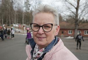 Särskolepedagogen Marie Nygren tyckte det blev ett fantastiskt event på skolgården.