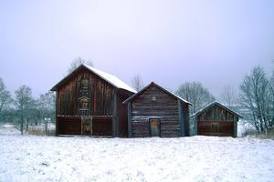 Härbret i Tullingsås (det minsta till höger) där Clement Bengtsson och Jon Jonsson yngre tillbringade sin sista natt innan de avrättades den 17 nov 1813 i det så kallade Sjugdendramat. Foto: Elisabet Rydell-Jansson