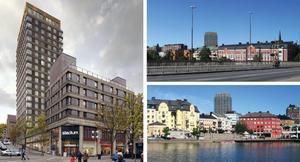 21 våningar högt är det planerade huset på Garvaregatan tänkt att bli. Bilderna kommer från förslaget till ny detaljplan. Illustration: Strategisk arkitektur